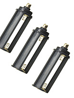 3pcs/lot 3 AAA Battery Black PlasticalMetal Holder Box Case Cylindrical Type For Flashlight Torch 65mm*21mm