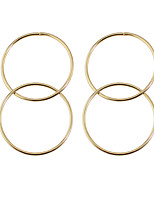 Ohrring Basis nette Art Simple Style Aleación Runde Form Schmuck Für Alltag Normal 1 Paar
