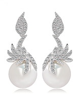 Femme Boucles d'oreilles Bijoux Original Mode euroaméricains Perle Zircon Alliage Bijoux Bijoux Pour Mariage Anniversaire Soirée Cérémonie