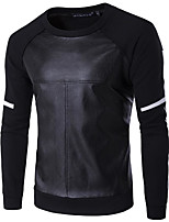 Men's Other Sweatshirt Solid Round Neck strenchy Others Long Sleeve Summer