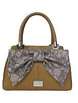 Kate&Co. luxury fashion leather tote bag TH-02115 camel bow