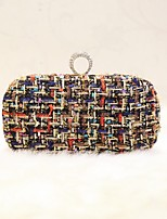 Women Evening Bag PU All Seasons Event/Party Party & Evening Club Baguette Magnetic Rainbow Black