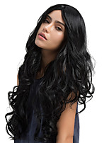 New Style Midsplit Bangs Natural Long Curly Hair Synthetic Wig