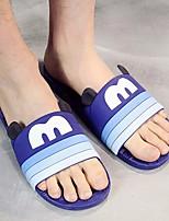 Men's Slippers & Flip-Flops Comfort PU Spring Casual Comfort Blue Purple Gray Flat