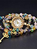 Жен. Модные часы Кварцевый Защита от влаги Глубокий зеленый Группа Разноцветный