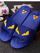 Herren Slippers & Flip-Flops Komfort PP (Polypropylen) Sommer Normal Komfort Flacher Absatz Weiß Schwarz Blau Flach