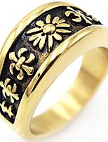 Кольцо Винтаж Euramerican Elegant Нержавеющая сталь Бижутерия Для День рождения Новогодние подарки 1 шт.