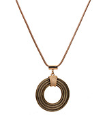Women's Men's Pendant Necklaces Jewelry Circle Geometric AlloyUnique Design Dangling Style Heart Natural Geometric Circle Cute Style