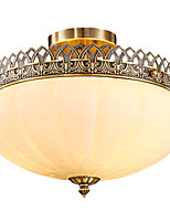 Full Copper Classic Crystal Ceiling Lamp LK