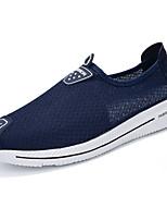 Men's Loafers & Slip-Ons PU Spring Summer Low Heel Black Gray Blue Under 1in