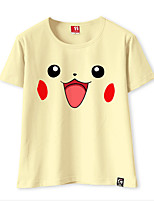 Ispirato da Pocket Little Monster PIKA PIKA Video gioco Costumi Cosplay Cosplay T-shirt Tinta unita T-shirt