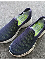 Men's Sneakers Moccasin Comfort Tulle Spring Casual Blue Light Grey Black Flat
