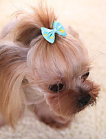 Dog Hair Accessories Dog Clothes Cute Fashion Casual/Daily Bowknot Blushing Pink Blue Red Fuchsia Yellow