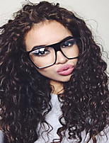 Kinky Curly Human Virgin Hair Natural Black Wig with Baby Hair for Black Women