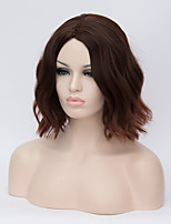 European and American Wigs Short Hair Dark Brown Hair Wig 16inch