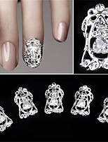 5 pcs Hollow Diamond Zircon False Nail Patch 3D Nail Decoration