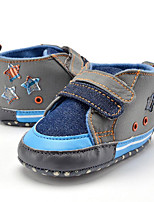 Baby Kids' Loafers & Slip-Ons First Walkers Fabric Summer Fall Party & Evening Dress Casual Split Joint Flat Heel Blue Flat