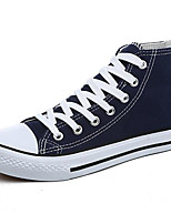 Women's Sneakers Comfort Canvas Spring Casual Red Navy Blue White Flat