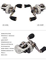 Carretes de lanzamiento 6.6:1 9 Rodamientos de bolas -Manos Pesca de baitcasting Pesca de Cebo-CK150-R