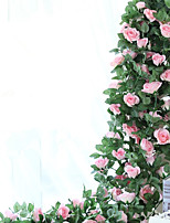 220cm Set of 16 Flowers  High Simulation Rose Flower Vine  Home Decoration Artificial Flower