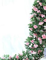 1 Ramo Seda Rosas Guirlandas & Flor de Parede Flores artificiais
