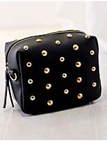 Women Shoulder Bag PU All Seasons Round Zipper Gold Black