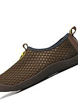 Для мужчин Мокасины и Свитер Светодиодные подошвы Пара обуви Тюль Весна Осень Для прогулок Для занятий спортом На плоской подошвеСерый