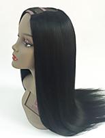 Best Quality 7A Silky Straight Virgin Brazilian U Part Human Hair Wigs 2x4inch Middle Part U Part Wig For Black Women