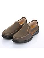 Для мужчин Мокасины и Свитер Формальная обувь Ткань Весна Осень Для офиса Повседневный На плоской подошве Черный Темно-русый 2,5 - 4,5 см