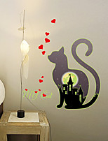Kitten Luminous Cat Wall Stickers Home Decor Bedroom Decal Diy Art Mural Removable Fluorescence Wall Sticker