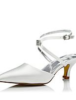 Damen Hochzeit Schuhe Komfort einfärbbar Schuhe Seide Frühling Herbst Kleid Party & Festivität Komfort einfärbbar Schuhe Schnürsenkel