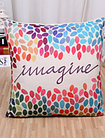 1 Pcs Fashion Colorful Leaf Pattern Cushion Cover Creative Square Pillow Cover