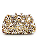 Women Evening Bag Silk All Seasons Casual Event/Party Wedding Minaudiere Crystal/ Rhinestone Snap Gold Handbag Clutch More Colors