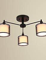Montage du flux ,  Traditionnel/Classique Rustique Retro Peintures Fonctionnalité for LED MétalSalle de séjour Chambre à coucher Salle à