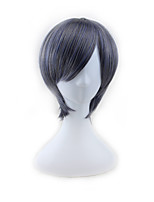 Anime Performance Wigs Vandt Hewei / Blue Gray High Temperature Silk Cosplay Wig 4inch