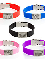 Sport ID Bracelet Custom Engraved Identification Bracelets&Bangles SOS Bracelet for Kids Adjusting Safety Children Personalized Jewelry