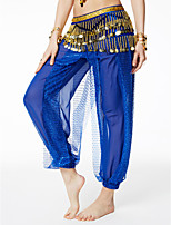Belly Dance Hip Scarves Women's Performance Sequin Flannel Belt Beading Sequin Paillettes 1 Piece Hip Scarf