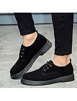 Для мужчин Кеды Удобная обувь Замша Весна Повседневные Удобная обувь Черный Темно-коричневый На плоской подошве