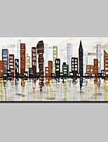 Hand-Painted Knife City Oil Paintings On Canvas Modern Abstract Wall Art Picture For Home Decoration Ready To Hang