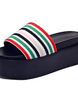 Women's Sandals Comfort Rubber Summer Outdoor Walking Comfort Flat Heel Chunky Heel White Coffee Green Blue Under 1in