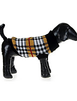 Dog Sweater Dog Clothes Casual/Daily Plaid/Check
