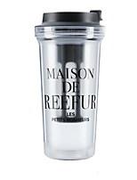 Drinkware 400ml Plastic Juice Water Daily Drinkware AS Resin Material