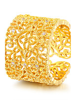 Damen Bandringe Kubikzirkonia Vintage Luxus-Schmuck Elegant Gold Zirkon Runde Form Schmuck Für Hochzeit Party Verlobung Alltag