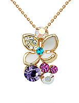Жен. Ожерелья с подвесками В форме цветка Позолота Мода Бижутерия Для Для вечеринок День рождения Повседневные 1шт