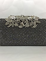 Women Evening Bag Metal All Seasons Formal Event/Party Minaudiere Push Lock Silver Black Gold