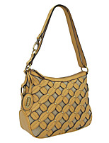 Kate&Co. hollow carved hand woven fashion leather handbag shoulder bag / Xiekua package TH-02212 yellow