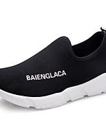 Для женщин Мокасины и Свитер Удобная обувь Тюль Весна Повседневные Удобная обувь Черный Красный Розовый На плоской подошве