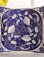 1 штук Шелк Наволочка Наволочки,Цветочные Новинки Повседневный Ретро Традиционный/классический Евро