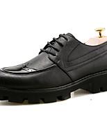 Men's Oxfords Comfort Leather Summer Outdoor Walking Comfort Flat Heel Black Under 1in