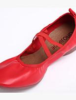 Не персонализируемая Для женщин Танцевальные кроссовки Искусственная кожа На плоской подошве Тренировочные Черный Пурпурный Красный
